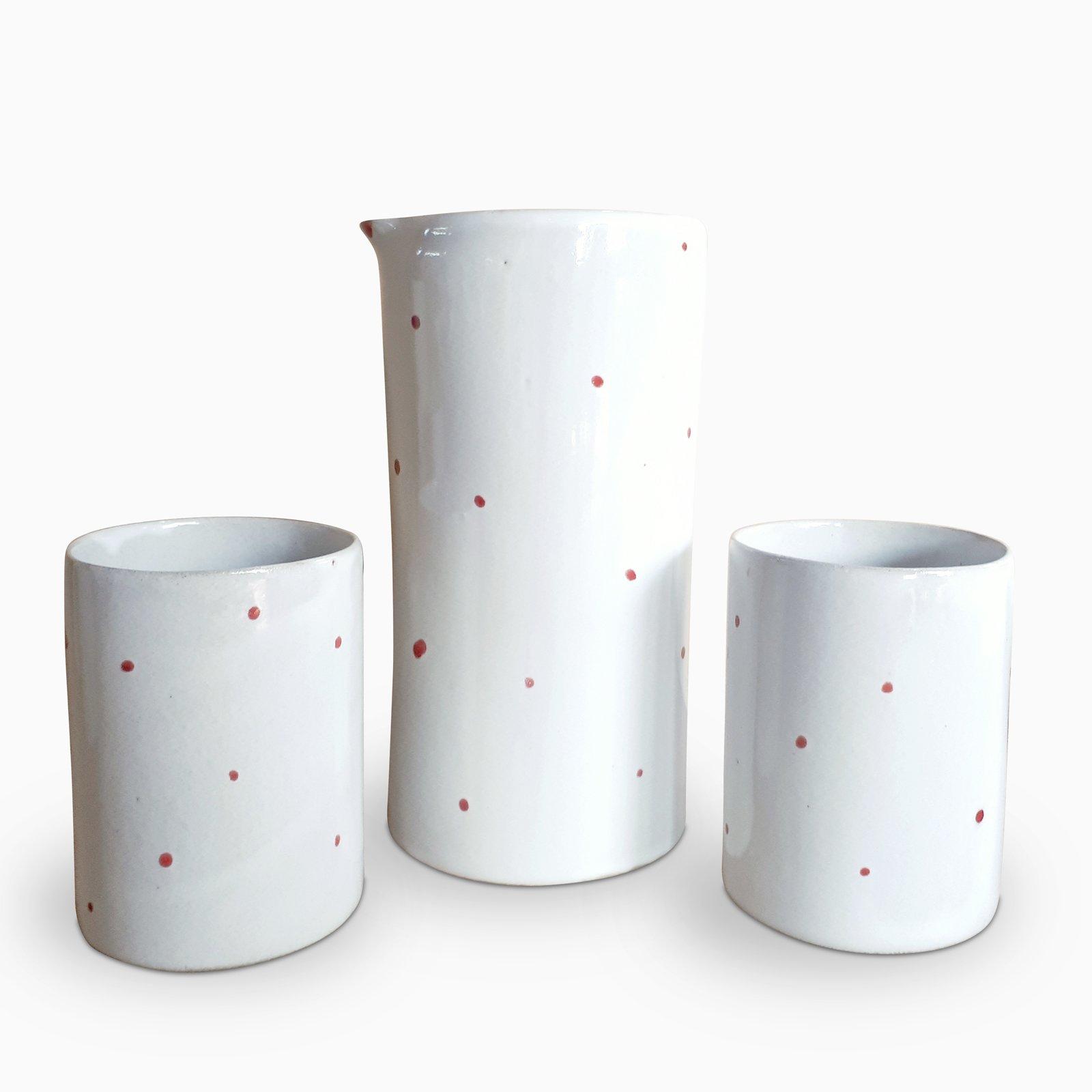 Jug & Mug with Red Spots set