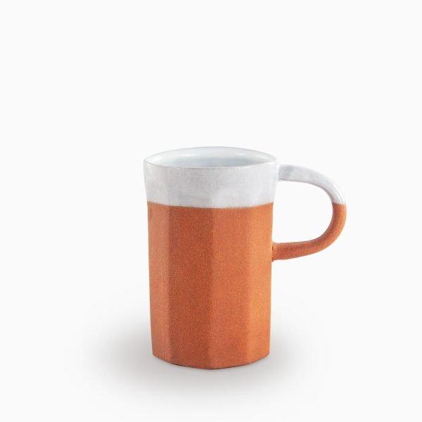 691701136 Hagan Mug Natural and White Velvet