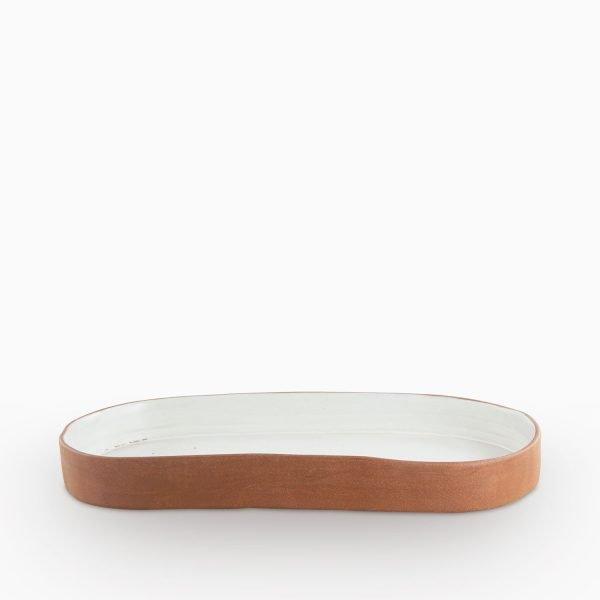 241513036 Tonsay Velvet Oval Plate h:3.5 cm