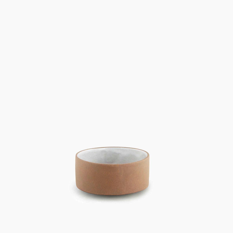 681101036 Tonsay Velvet Dipping Bowl 10 Cm   Natural - Inside White Velvet